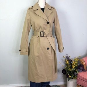 Allsaints Chiara Belted Trench Coat in Tan